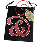 Custom Shaped Holiday Ornament and Keychain Gift Set