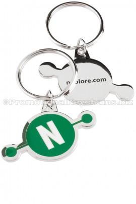 CustomKeychainsBoulevardSeries™GreenNCustomMetalKeychain