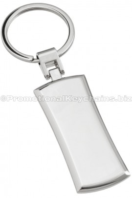 PromotionalKeychainsPremiumCollection:CurvedOnyxMetalRectangleEngravedKeychain-ViewofBack