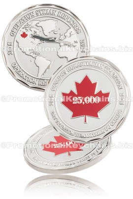 CoinDesignedandManufaturedforCanadianGovernmentCommemoratingRefugeeProgram