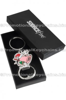 CustomDieCast3D/2DBottleOpenerKeychains-WithColorFillandImprintedGiftBox