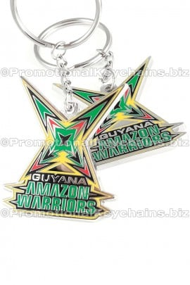 CustomKeychainsBoulevardSeries™GuyanaAmazonWarriorsCustomMetalKeychain