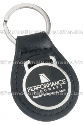 GenuineLeatherCustomKeyFob-RoundSilver-PerformanceAircraft