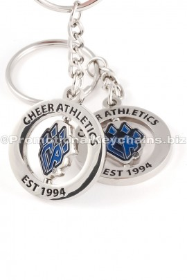 CustomMadeSpinningMetalKeychainsforCheerAthleticsColumbus