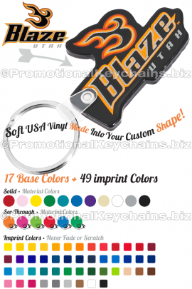 UniqueCustomShapedVinylKeychains-ExamplewithColorChart