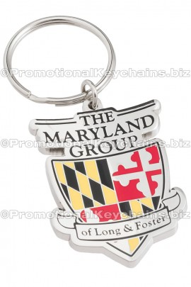 CustomKeychainsBoulevardSeries™CustomMadeMetalWithEnamelKeychain-TheMarylandGroupofLongandFoster