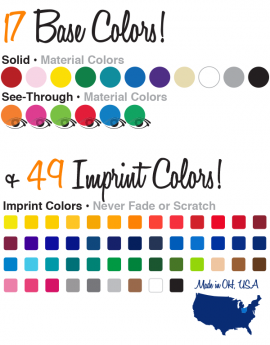 Choosefromourwideselectionofcolors