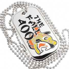 PolishedMetalwithEnameledColorCustomDogTags