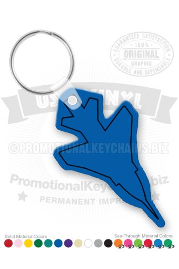Airplane Vinyl Keychain PK3692