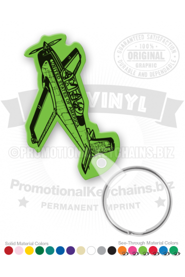 Airplane Vinyl Keychain PK6663