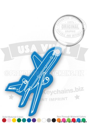 Airplane Vinyl Keychain PK6664