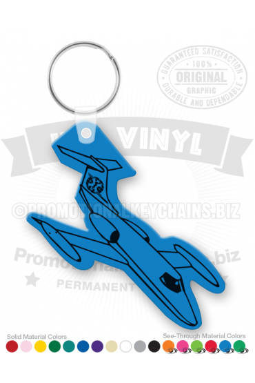 Airplane Vinyl Keychain PK6770