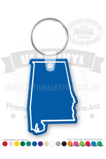 Alabama State Vinyl Keychain PK6100AL
