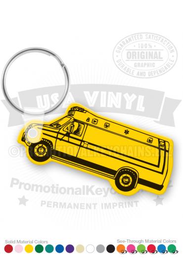 Ambulance Vinyl Keychain PK3318