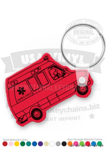 Ambulance Vinyl Keychain PK3337