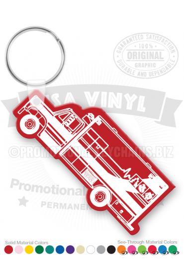Ambulance Vinyl Keychain PK4878