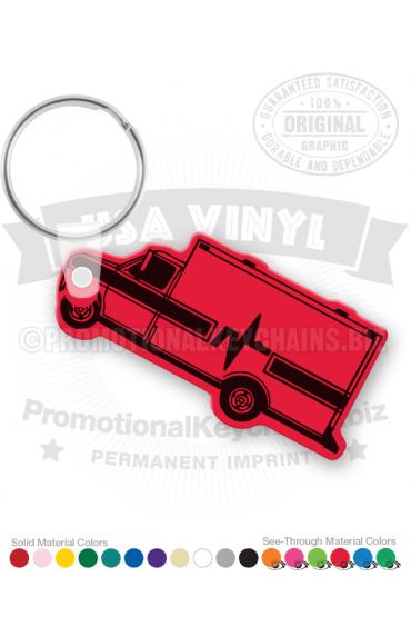 Ambulance Vinyl Keychain PK7922