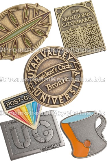 Antiqued Custom Die Struck Lapel Pins