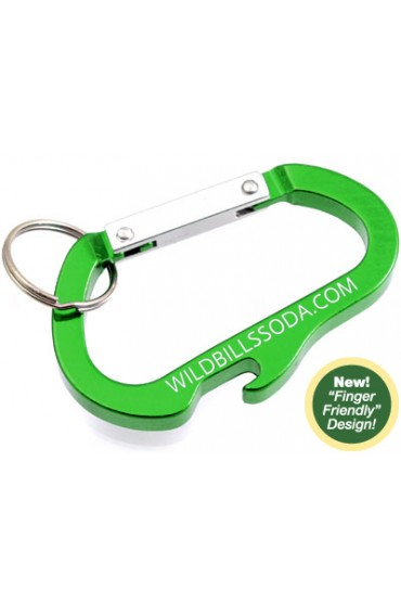 Custom Engraved Carabiner Bottle Opener Keychains