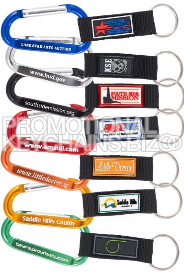 Custom PVC Strap Carabiner Keychains
