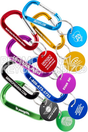 Carabiner Keychain With Medallion Tag