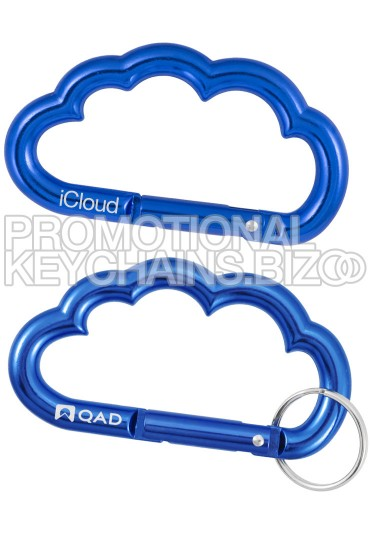 Cloud Shaped Carabiner Keychain