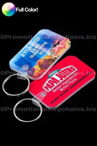 Full Color Midsized Rectangle Vinyl Keychains