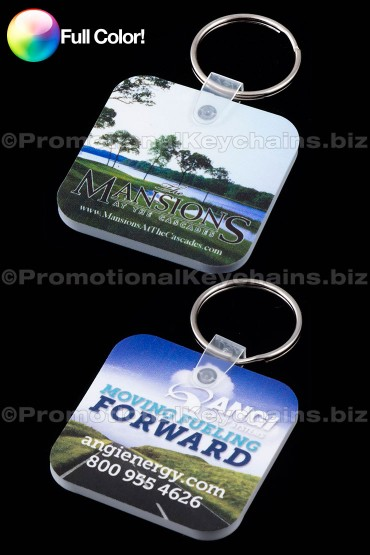 Full Color Square Rounded Corner Vinyl Keychains