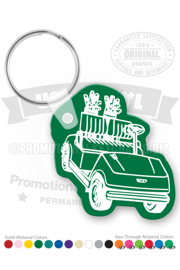 golf cart vinyl keychain pk7205. Black Bedroom Furniture Sets. Home Design Ideas