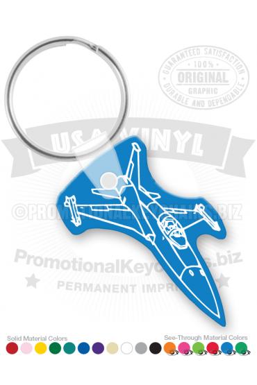 Airplane Jet Fighter Vinyl Keychain