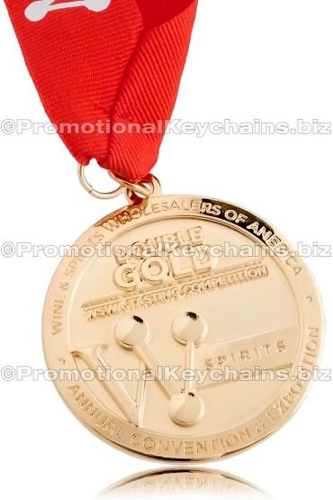 Custom Made Medals - Polished Gold Medal