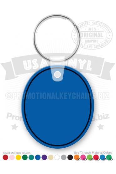 Oval Vinyl Keychain PK3292