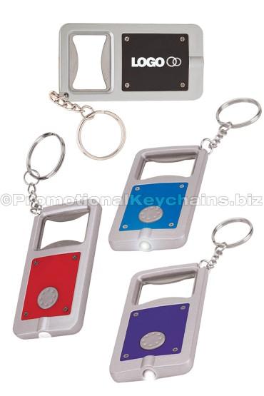 Rectangle Bottle Opener LED Keychains