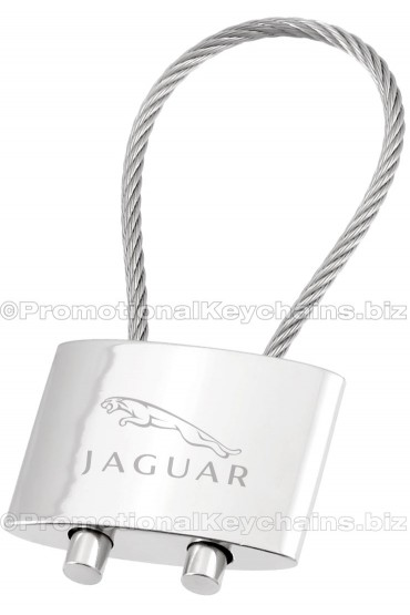 Polished Cable Engraved Metal Keychain