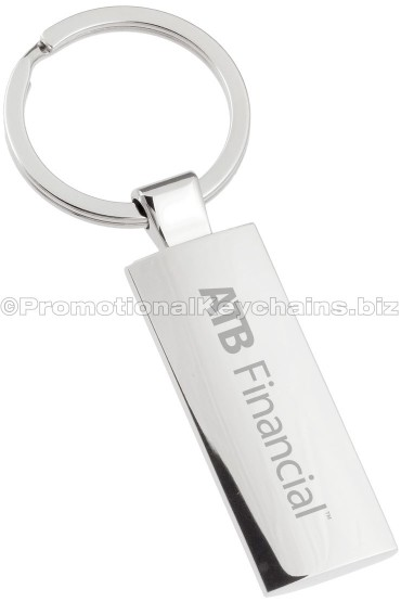 Promotional Keychains Silver Column Engraved Metal Keychain