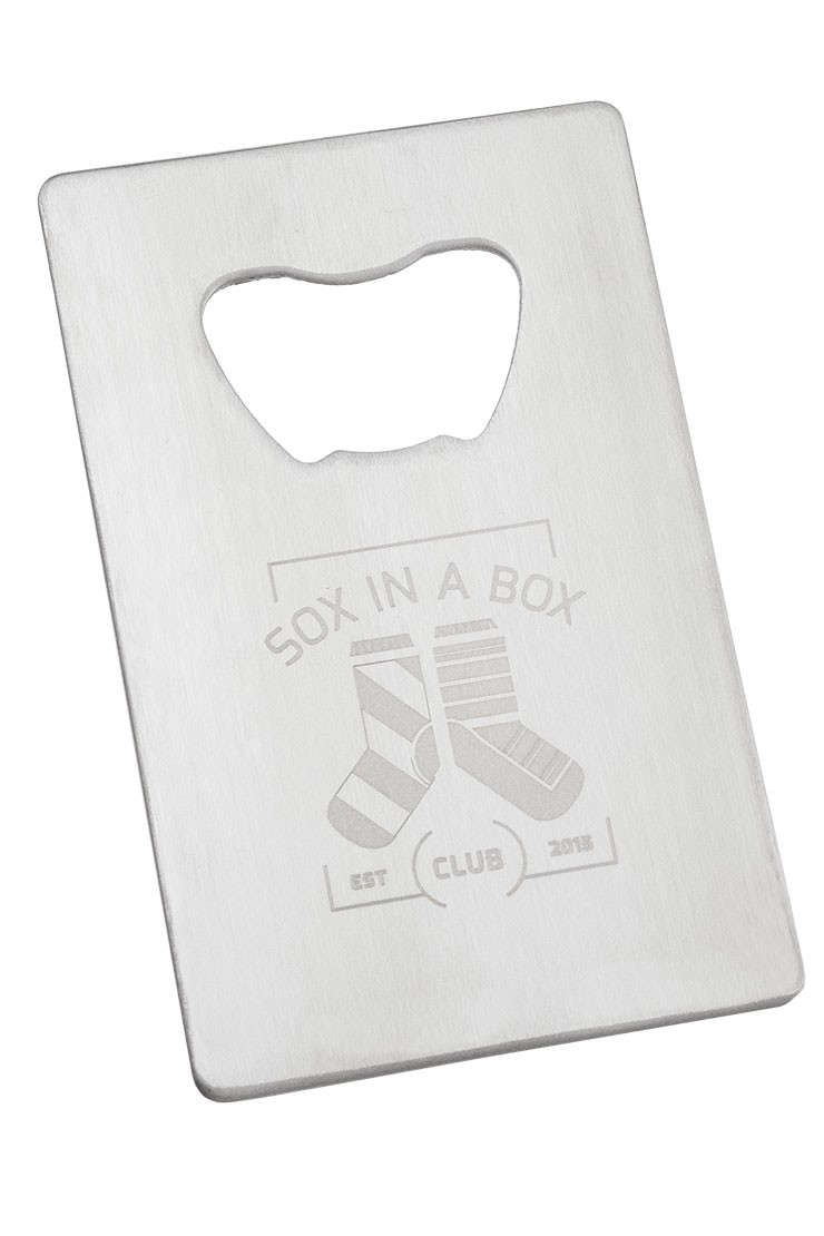 Credit Card Bottle Opener in Stainless Steel
