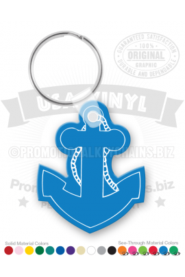 AnchorShapedVinylKeychain