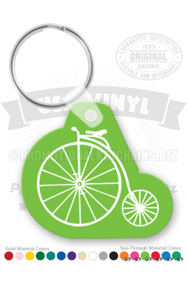 BicycleAntiqueShapedVinylKeychain