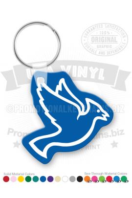 BlueJayShapeVinylKeychain