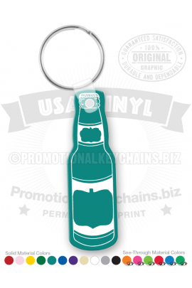 BottleShapedVinylKeychain