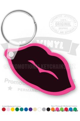 LipsShapeVinylKeychain