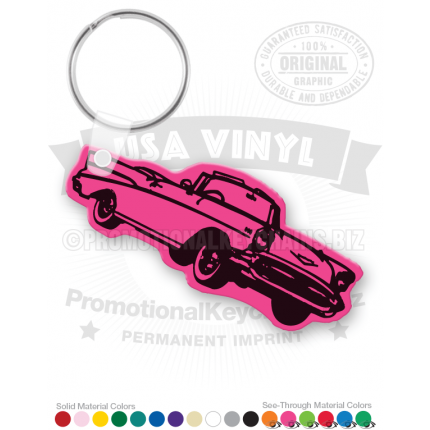 57 Chevy Car Vinyl Keychain PK4574