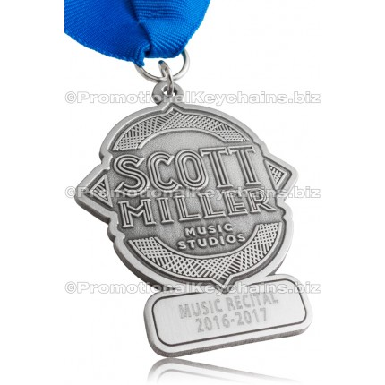 Silver Custom Medal Antiqued