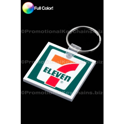 Full Color Square Vinyl Keychain