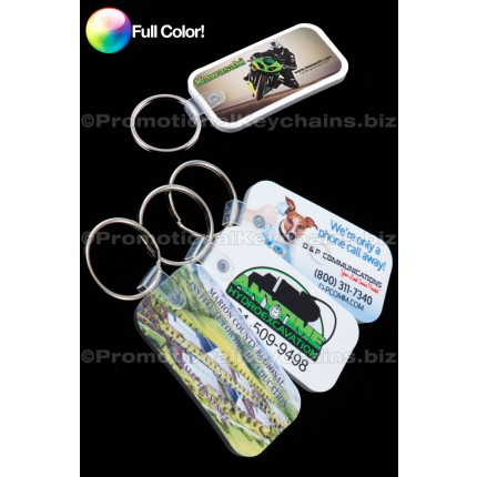 Full Color Medium Rectangle Vinyl Keychains