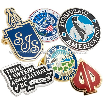 Custom Lapel Pins with Hard Enamel Color Fills