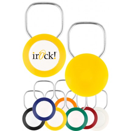 Logo Ring 1 Sided Color Promotional Keychains