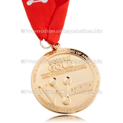 Custom Made Medals - Polished Gold Medal