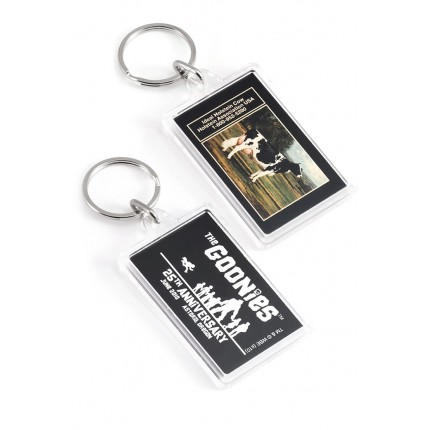 Mid-Sized Rectangle Custom Imprinted Acrylic Keychains