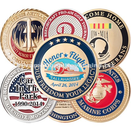 Custom Made Challenge Coins Polished & Sandblast